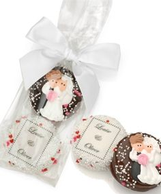 Find Wedding Chocolate Oreos-Bag of 2 Tied With Ribbon with quantity discounts here, along with other wedding favors and shower gifts. Custom Chocolate, Chocolate Molds, Melting Chocolate, Chocolate Dipped, Chocolate Making, Belgian Chocolate, White Chocolate, Edible Wedding Favors, Unique Wedding Invitations