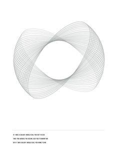 geometry posters by Amanda Rohlin, via Behancege