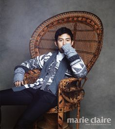Go Soo in Marie Claire Korea January 3