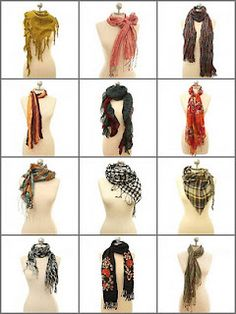 12 ways to tie your scarf