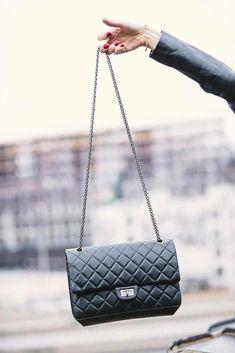 Chanel black quilted aged calfskin reissue 2.55 bag  Chanelhandbags f7968ecadaa