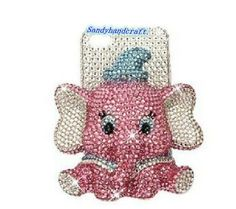 cute iPhone5 case elephant iPhone casePink by Sandyhandcraft, $29.99