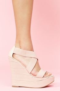 Bound Platform Wedge - Blush..I love these shoes!!!!!
