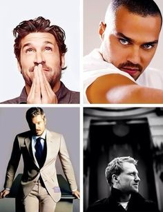 The men of greys anatomy..I have no idea why it took me so long to jump on the Grey's anatomy band wagon...but I made up for it by watching the entire series from start to finish 3 times :)
