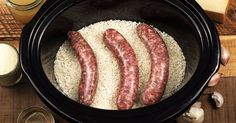 How to make slow cooker sausage risotto (video)