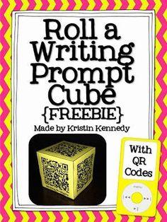 Roll a Writing Prompt QR Code FREEBIE