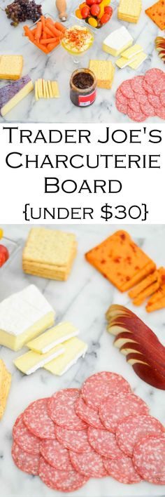 Cheap + Easy Charcuterie Plate - Trader Joe's Charcuterie Board #charcuterie #meatplate #cheeseplate #traderjoes #appetizer #lmrecipes #meatplate #cheeseplate