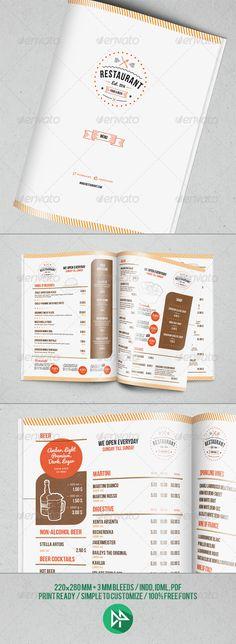 Template Menu Design And Poster Beer Pub  Menu Menu Templates