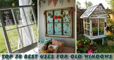 Top 38 Best Ways To Repurpose & Reuse Old Windows