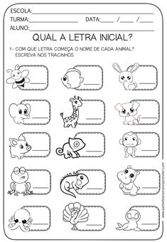 Spanish Lessons For Kids, Learning Spanish, Autumn Activities, Preschool Activities, Activity Sheets For Kids, Letter Worksheets, Speech Language Therapy, Kids Education, Phonics