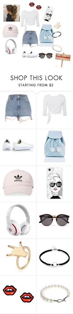 Fehér cipő by kalovics-dominika on Polyvore featuring River Island, Converse, Sugar Thrillz, George J. Love, Illesteva, Beats by Dr. Dre, Casetify and adidas