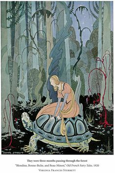 Virginia Frances Sterret, They were three months passing through the forest Illustration from Old French Fairy Tales retold by Comtesse de Ségur, 1920 Art And Illustration, Vintage Illustrations, Fairy Tale Illustrations, Botanical Illustration, Illustration Children, Fantasy Kunst, Fantasy Art, French Fairy Tales, Instalation Art