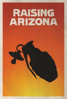Raising Arizona Minimalist Poster by Matt Owen
