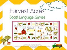Harvest Acres: Social Language Activities for Fall is a 41 page download featuring Harvest Acres, a nice little farm where kids are busy harvesting apples and pumpkins! They even get to play in the leaves!   It features activities on the farm for fall.