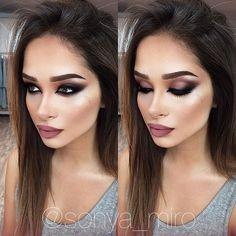 GLAMOROUS MAKEUP ❤️My beautiful model @alina_akilova 💕💕💕💃🏻😻💋❤️ MAC ingredients- Skin- studio moisture fix, foundation- pro longwear spf10, CC powder adjust, hilighter- soft and gentle, eyeshadow/15- warm neutral,burgundy times nine, eyeliner- feline, mascara- falselashes, brow- brun eyeshadow, brow gel- SHOW OFF, lip -lip pencil PLUM , lipstick VELVET TEDDY 👌🏻 ❤️💋#SONYAMIRO #Moscow #myartistcommunity #maccosmetics #beautyblogger #bbloggers #blogger #москва #LOVE #follow…