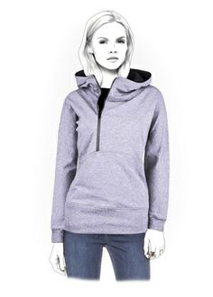 Hoodie - Sewing Pattern #4341. Made-to-measure sewing pattern from Lekala with free online download.