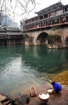 Wash - Phoenix Ancient Town, Hunan, China 湖南 鳳凰古城