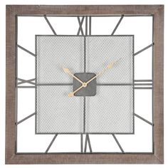 Buy Pacific Lifestyle by Natural Wood Square Wall Clock from our Accessories range - @ Breeze Home Furnishings Metal Mesh, Wood And Metal, Cornwall, Indoor Water Features, Led Wall Clock, London Clock, Wall Clock Online, Wood Clocks, Kare Design
