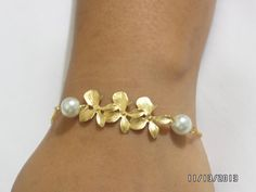 Set of 5 Bridesmaid giftpearl and orchid by newyorkjewelers, $85.00