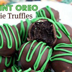 St. Patrick's Day Mint Oreo Cookie Truffles