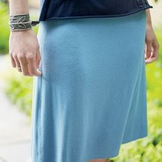 "Sew a simple T-shirt or jersey A-line skirt with these patternless pattern excerpted via ""Improv Sewing"""