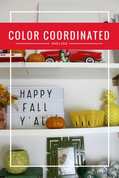 I love the idea of color coordinated shelves for modern decor! I need to learn…
