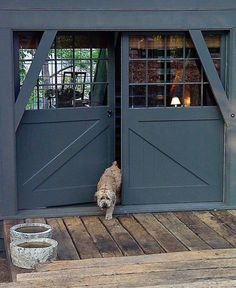 Barn burner:: lake house door by mcalpine tankersley