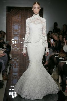 Reem Acra Bridal, Fall 2013