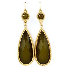Olive Green Dangle Earrings 1492*68 - $7.00 | Sabby and Kays Boutique Studio - Lakeland, FL