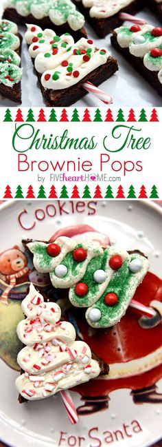 Christmas Tree Brownie Pops