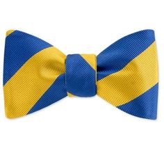 "As they say: ""Wearing a bowtie is a sign of confidence."" Especially a blue and gold one."