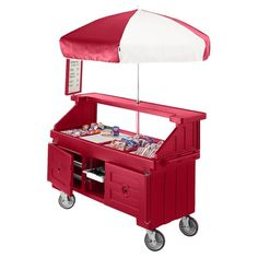 Cambro Camcruiser CVC724158 Hot Red Vending Cart