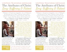 ....and Spiritually Speaking: March 2015 VT Message - The Attributes of Christ: Long-Suffering & Patient