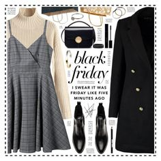 """""""Black Friday!"""" by hennie-henne ❤ liked on Polyvore featuring Boohoo, Gucci, Marni, Stephanie Kantis, Avon, Manic Panic NYC and Witchery"""
