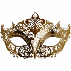 Gold Metal Venetian Half Mask- we need it in white for the bride