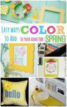 Easy Ways to Add Color To Your Home for Spring!! -- Tatertots and Jello for eBay #ad