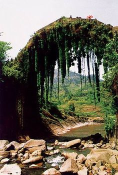 An ancient bridge in the Three Gorges area, China
