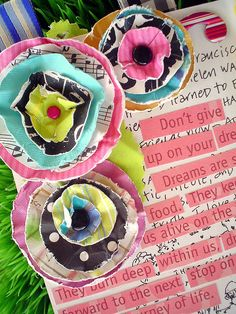 Use scrapbook paper leftovers to make these.