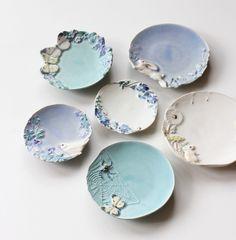 うつわや みたすの画像|エキサイトブログ (blog) Pottery Bowls, Ceramic Pottery, Ceramic Plates, Ceramic Art, Clay Crafts, Clay Projects, Clay Studio, Hand Built Pottery, Pottery Techniques
