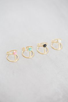 Athena Stone Ring