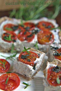 cucina verde dolce e salata: Cremosità mediterranea -torta salata profumatissima-