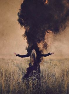 """liquidnight: """" Today on Haute Macabre I write about the breathtakingly expressive and visionary work photographer Brooke Shaden: """"Brooke Shaden: Visceral Visual Narratives """" """" Witch Photos, Halloween Photos, Halloween Fotografie, Halloween Photography, Arte Obscura, Witch Aesthetic, Dark Photography, Macabre Photography, Smoke Bomb Photography"""