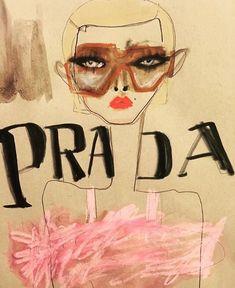 Blair Z - Illustration for Prada Spring 2017 Milan