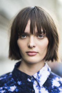 : It seems even Parisian ladies have jumped on the blunt bob trend for Fall. Source: Le 21ème | Adam Katz Sinding