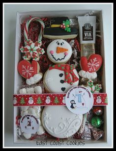 Snowman cookie giftbox