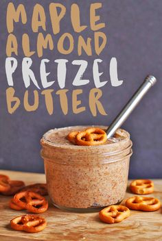 Say HELLO to my new favorite any-time-of-day snack: Maple Almond PRETZEL Butter made w/ gluten-free pretzels and maple roasted almonds for the perfect snack. Click the photo for the full recipe.