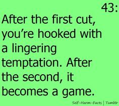After the first cut it becomes a game.