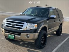 """2013 Ford Expedition - 20x10 -24mm - Panther Offroad 580 - Suspension Lift 3.5"""" - 33"""" x 10.5"""" Ford Expedition, Offroad, Panther, Gallery, Car, Automobile, Off Road, Roof Rack, Panthers"""