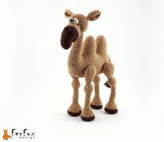 Camel Ibrahim crochet artistic toy.    Camel Ibrahim - the hermit and the philosopher. Lives in the Gobi Desert to avoid vanity of the world.