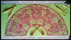 """Abanico de flores"", de la revista de bolillos Vuelta y Cruz Nº2. --- ""Flower fan"", from N.2 of Twist and Cross bobbin lace magazine."
